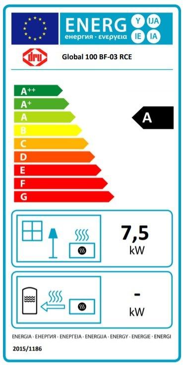 Dru gashaard global 100 BF energielabel