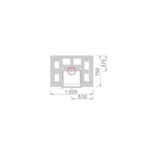 Tulikivi speksteenkachel TTU 2700/8 plattegrond