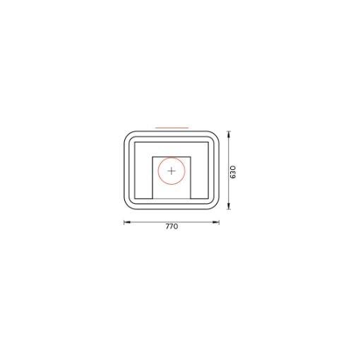 Tulikivi speksteenkachel kelva s plattegrond