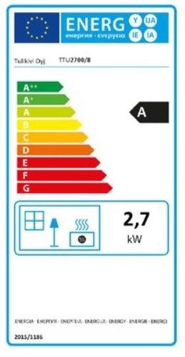 tulikivi speksteenkachel TTU 2700/8 energielabel