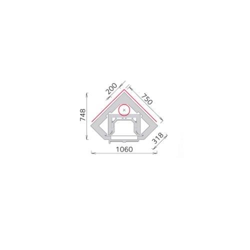 Tulikivi KTU 1010-92 speksteenkachel plattegrond