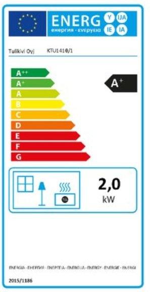 Tulikivi KTU 1410/1 eco energielabel