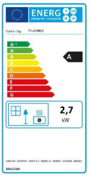 Tulikivi TTU 2700/4 eco energielabel