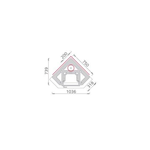 Tulikivi ktu 1410/4 speksteenkachel plattegrond