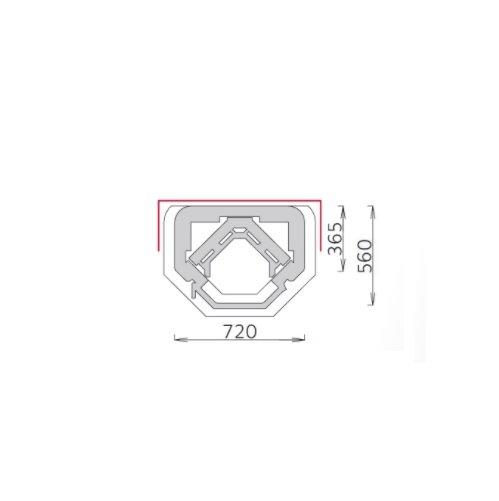 Tulikivi speksteenkachel TU 1030/5D plattegrond