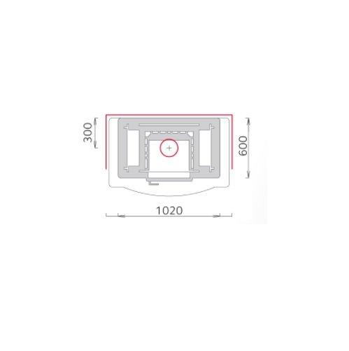 Tulikivi speksteenkachel TU 2200/4 plattegrond