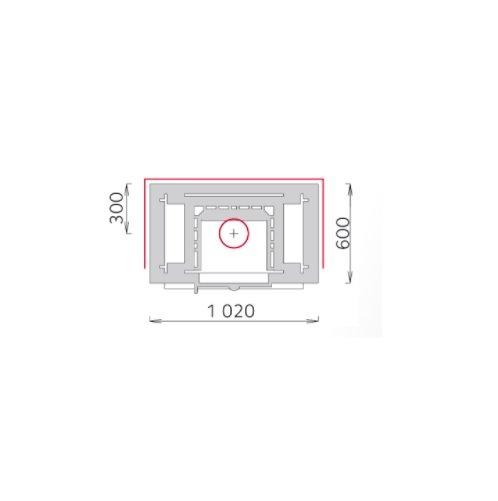 Tulikivi speksteenkachel TU 2200/92 plattegrond