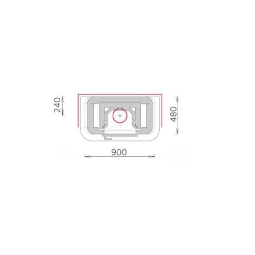 Tulikivi speksteenkachel TU1450/2 plattegrond