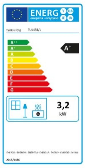 Tulikivi tu 1450-1 speksteenkachel eco energielabel