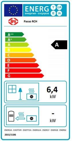Dru passo nero eco wave gaskachel gashaard vrijstaand energielabel